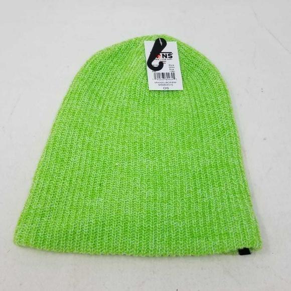 16acc894ea Vans Mismoedig Lime Green Skate Beanie Men s OS